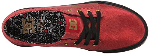 DC Women's Trase X TR Skate Shoe, Red/Black, 8.5 M US