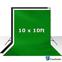 LimoStudio Photo Studio 3 colors Green Chromackey Background Muslin Backdrops kit for Photography, LMS282