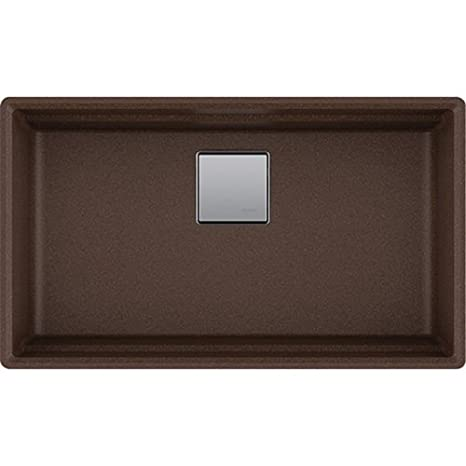 Franke PKG11031MOC Peak Granite Undermount Single Bowl Kitchen Sink, Mocha