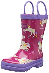 Hatley Girls\' Rainboots-Unicorns and Rainbows, Pink, 7