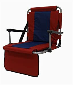 Stadium Seat with Padded Seat and Back and Armrests by Mac Sports