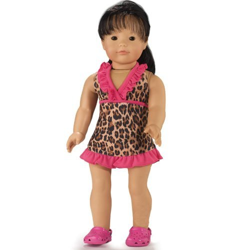 Leopard Cover Dress, Fits 18 Inch American Girl Dolls - 1