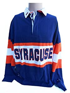 NCAA Syracuse Orange Panel Rugby Shirt, Large, Blue Orange White by Donegal Bay