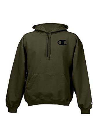 Champion Super Hood® Fleece Men`s Hoodie with Big Raised Embroidered C Logo