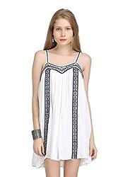 Bainy White Viscose Dress