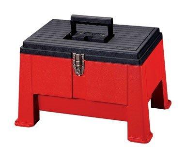 Stack-On Ssr-20 Step 'N Stor Step Stool, Black/Red front-856728