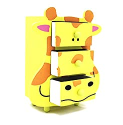 Shopaholic Cow Shaped & Themed Storage Box with Three Drawers To Store Kids Valuables-Small(Color May Vary)