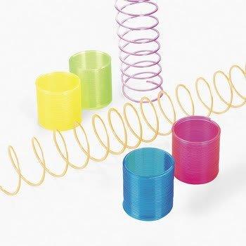 Mini Transparent Magic Spring (1 dozen) - Bulk [Toy]