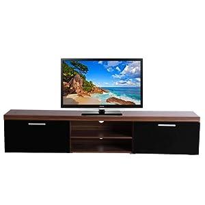 Homcom 2 Meter Long 2 Door Modern Tv Cabinet Low Bench