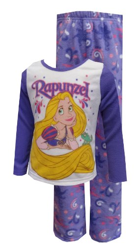 Disney Princess Rapunzel Fleece Toddler Pajama Set For Girls (3T) back-616315