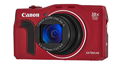 Canon Powershot Sx700 Hs Digital Camera (Red)