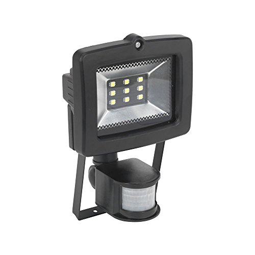Sealey LED044S Floodlight with Wall Bracket and PIR Sensor 9 SMD LED, 230 V
