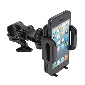 Satechi CR-3800 Universal Bicycle Holder Wrench Mount for iPhone 5, 4S, 4, 3GS, 3G, Samsung Galaxy S3, S2, Note, Note 2, Nexus S, HTC One X, S, Motorola Droid Razr HD, Maxx, Nokia Lumia 920, LG Optimus G