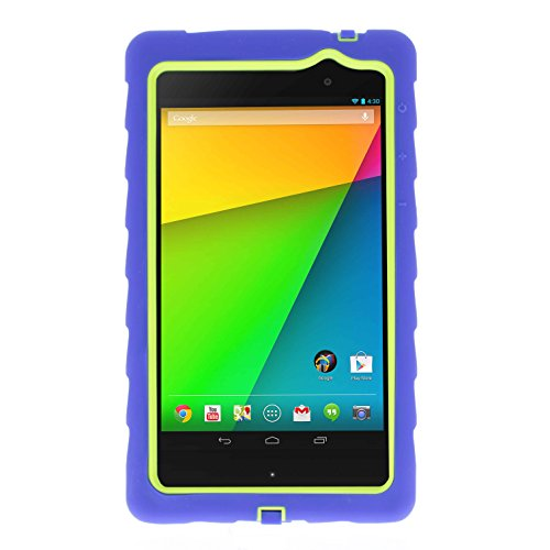Google Nexus 7 (2013) Drop Tech Blue Gumdrop Cases Silicone Rugged Shock Absorbing Protective Dual Layer Cover Case (Nexus 7 Case Blue compare prices)