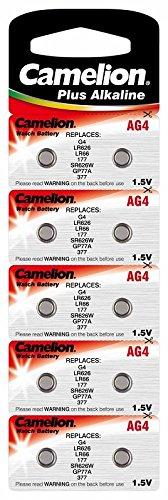 CAMELION lot de piles bouton aG4 lR66/377/lR626 avec aIMn/1,5 v/18 mAh