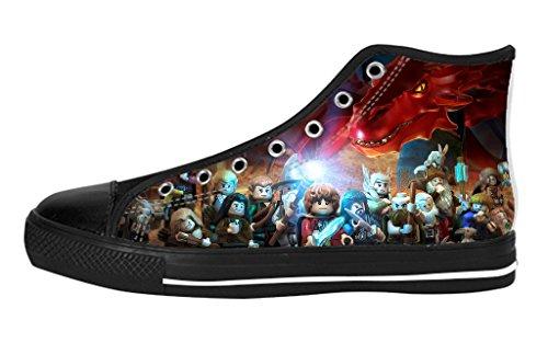 Pop Sneaker Men's High Top Soft Inner Shoes Custom The Hobbit Battle of Five Armies Poster Fashion Design