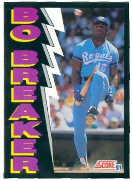 Bo Jackson baseball card (Kansas City Royals Bo Knows) 1991 Score #773