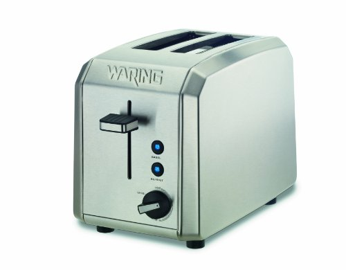 Waring Wt200 Professional 2-Slice Toaster, Brushed Stainless Steel