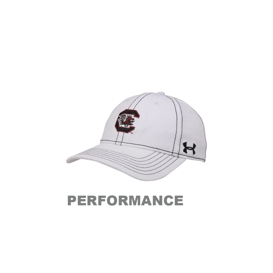 Under Armour South Carolina Gamecocks Ladies White Charged Adjustable Hat