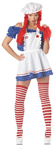Sexy Ruffled Rag Doll Girl Costume Small (6-8)