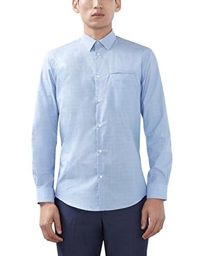 ESPRIT Camisa Hombre Azul