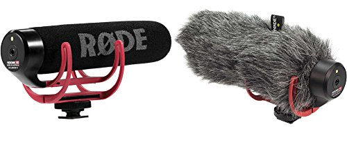 Rode Vmgo Video Mic Go Lightweight On-Camera Microphone Super-Cardio + Artificial Fur Wind Shield