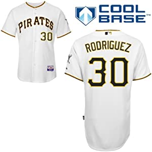 Wandy Rodriguez Pittsburgh Pirates Home Authentic Cool Base Jersey by Majestic by Majestic