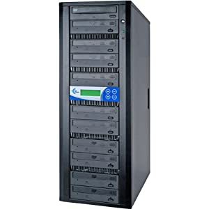 EZ DUPE-COMPUTER 10-TARGET DVD/CD DUPLICATE SYSTEXT 500GB HD SATA DAISY CHAIN LG DRIVES