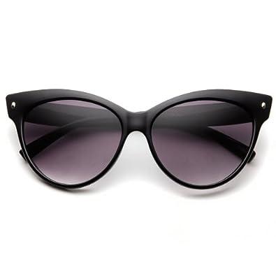 High Pointed Vintage Mod Womens Fashion Cat Eye Sunglasses (Black)