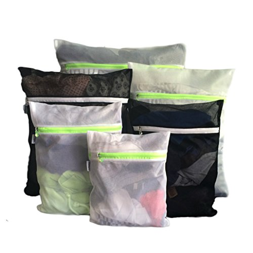 Bloomora Delicates Laundry Bag, Premium Quality Mesh, Pack of 6, Black & White (Delicate Garment Bag compare prices)