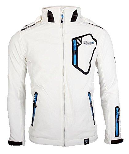 Geographical Norway Herren Softshell Funktions Outdoor Jacke wasserabweisend [GeNo-11-Weiss-Gr.M] -
