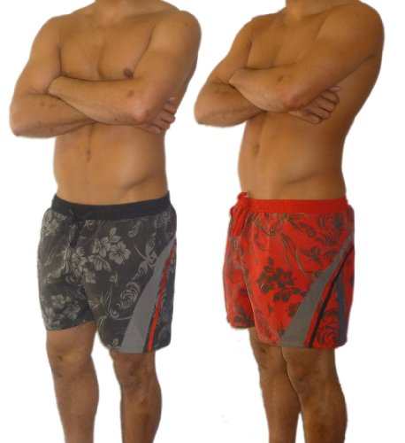 Mens Red Floral Swimming Shorts X Large Brand New