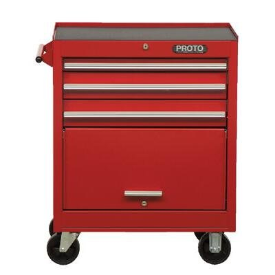 Stanley Proto J442742-4RD 440SS 27-Inch Roller Cabinet, 4 Drawer, Red (Stanley Garage Cabinets compare prices)