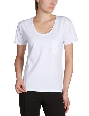 SELECTED FEMME Damen T-Shirt 16029174 DAISY SS TEE - BASIC, Gr. 34 (XS), Weiß (OPT.WHITE)