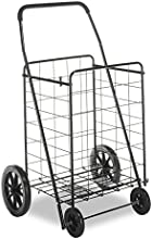 Whitmor 6318-2678 Deluxe Rolling Utility Cart, Black