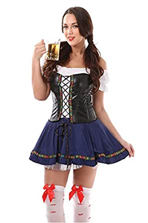 ARCITON Women's Sexy Bavarian Maid Adult Costumes Oktoberfest Beer Girl