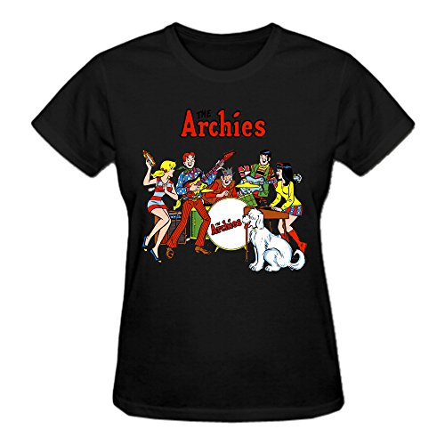 The Archies The Archies 100% Cotton Tee Shirts For Women Crew Neck Black (Seal Dragon Hunger Hell Dragon compare prices)