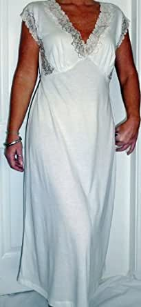 Ladies Soft Jersey Sleeveless Nightdress Sizes 10-12 14-16 18-20 Cream (14-16)