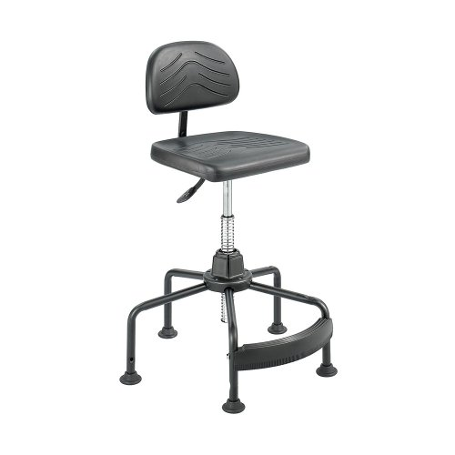 Safco Taskmaster Economahogany Industrial Chair, Black front-992359