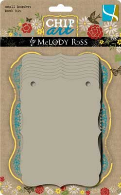 GCD Studios Chip Art By Melody Ross Chipboard Small Bracket Book Kit: 5-1/2x4