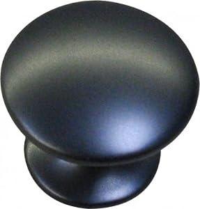 Bouton de porte et tiroir de meuble en zamak noir satin for Bouton de meuble de cuisine