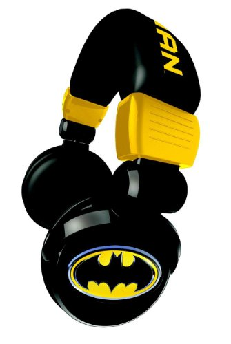 Ihip Dcf10264Bm Batman Dj Style Over-Ear Headphones (Black)