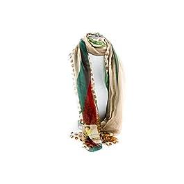 Foulard RONCATO mujer motivos verde bufanda refinada chiffon L1186