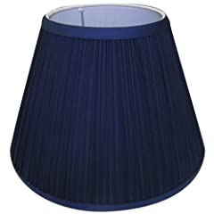5x10x8 Navy Blue Pleated Lamp Shade