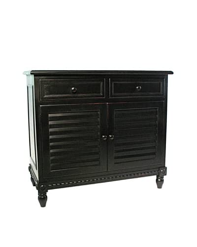 Charleston Stockholm Cabinet, Antique Black