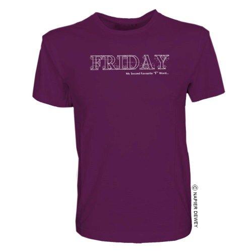 360 Napier Dewey - Top - T-shirt  - Maniche corte - Unisex - Adulto Viola viola