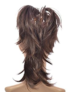 Dark Brown Flexihair Clip On Ponytail | Bendable Clip In Hairpiece | Flexible Hairstrands| Brown Mix