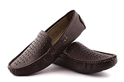 Redfoot Leather Look Men's Casual Loafers