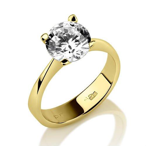 Holyland-1 CT VS D BRILLIANT CERTIFIED DIAMOND RING 18K Y GOLD 9