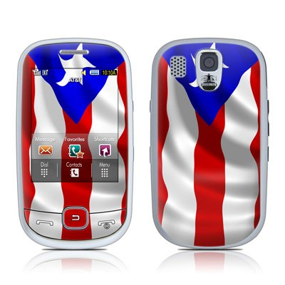 Puerto Rican Flag Design Protective Skin Decal Sticker for Samsung Flight SGH A797 (AT&T) Cell Phone
